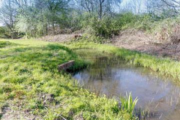 Graben 16 mit Teich an der Randersweide